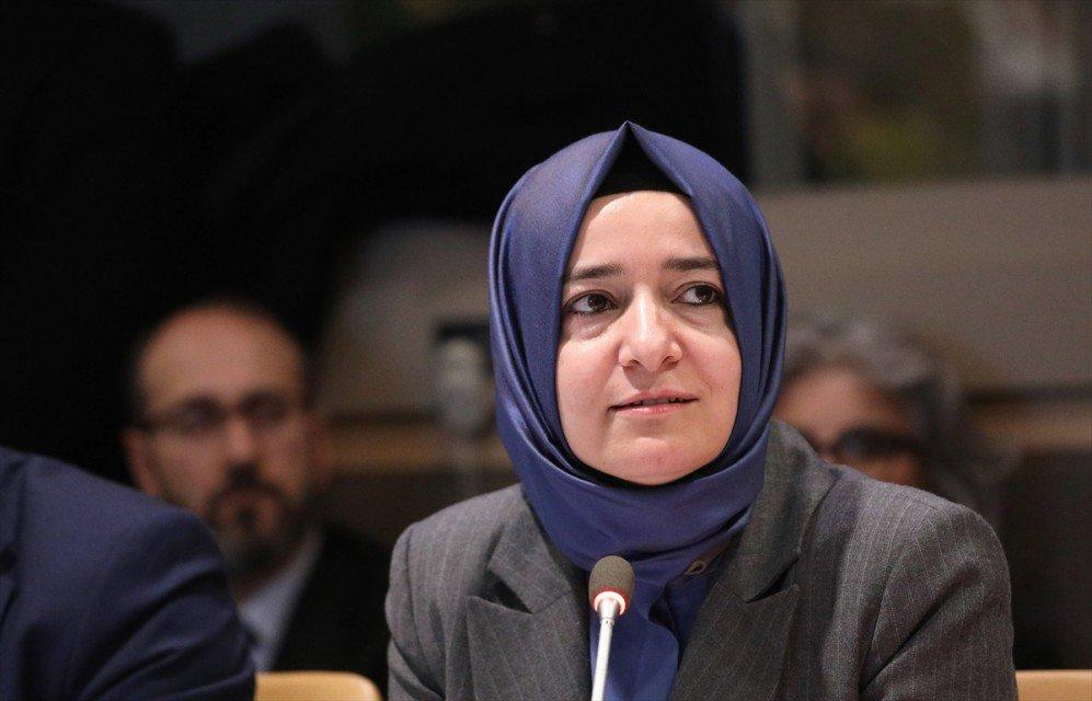 """وزيرة تركية تدعو المجتمع الدولي لتبني """"الحساسية"""" اللازمة تجاه الحروب وتداعياتها"""