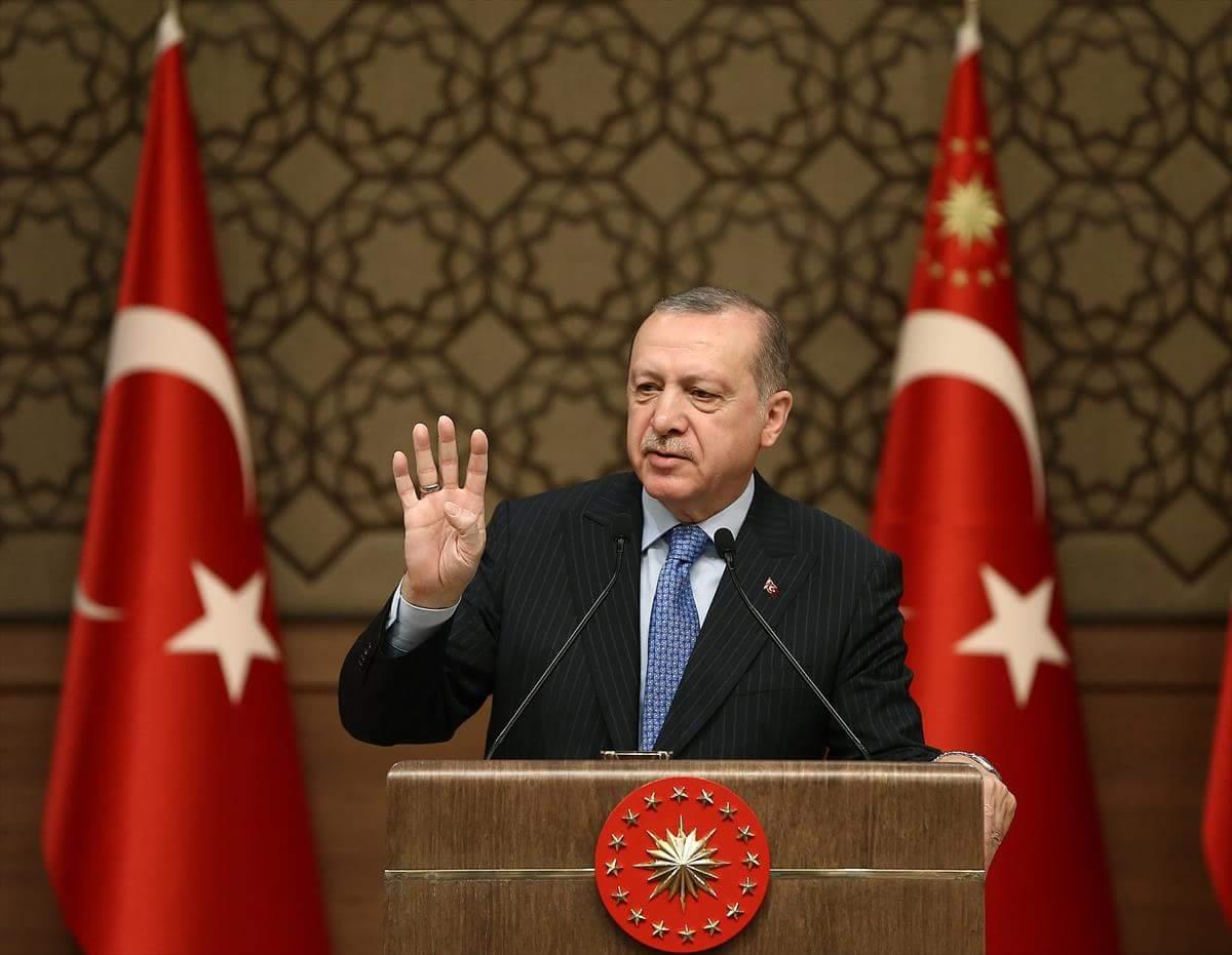 الرئيس أردوغان: قوات التحالف الدولي ساعدت الإرهابيين على حفر الأنفاق في الجبال