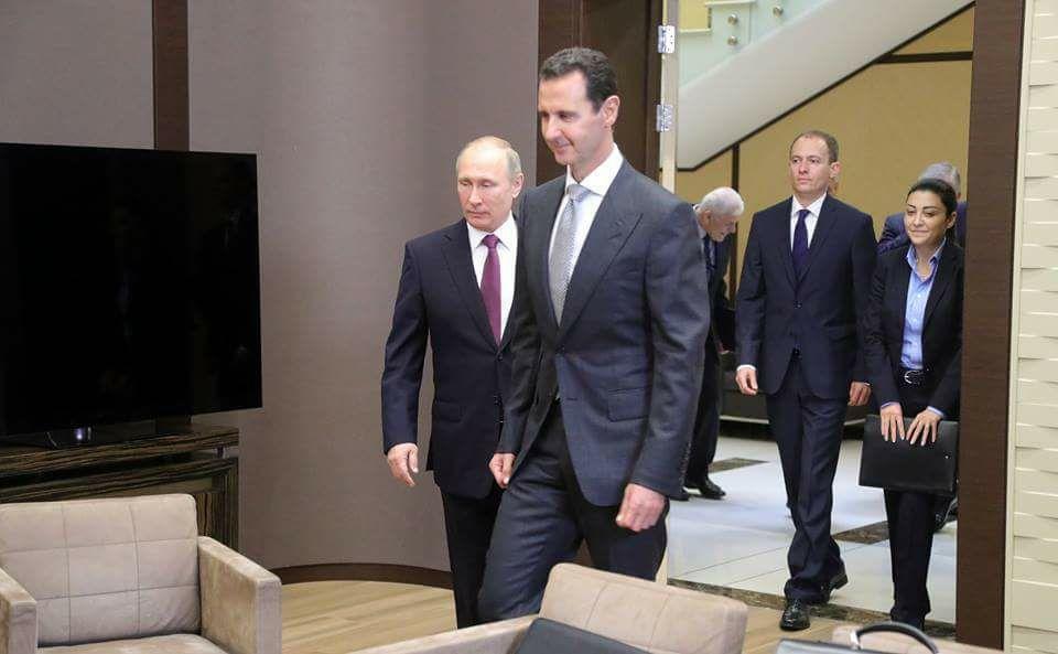 بوتين للأسد في الكرملين: مشكلة سوريا الأساسية هي الوجود غير الشرعي لقوات أجنبية على أراضيها (فيديو)