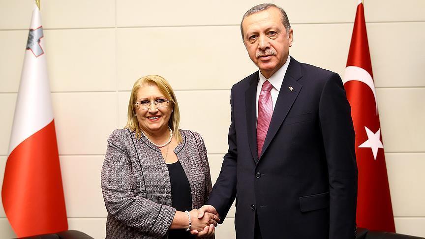 رئيسة مالطا تزور تركيا الأربعاء