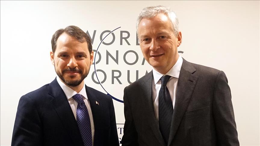 ألبيرق يلتقي وزيري المالية الفرنسي والاقتصاد الألماني