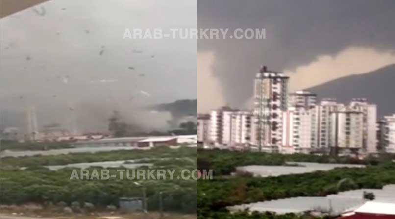 تركيا: عاصفة كبيرة في أنطاليا تحدث أضرار كبيرة