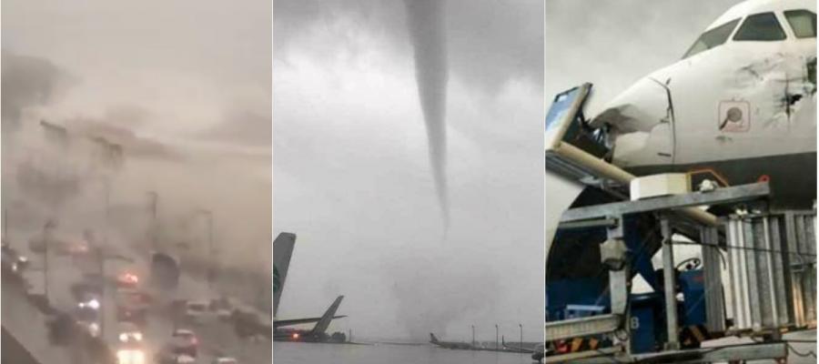 إعصار مرعب يضرب مدينة أنطاليا التركية (شاهد)