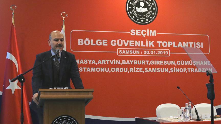 وزير الداخلية التركي: نعمل على قدم وساق لتأمين سلامة الانتخابات المقبلة
