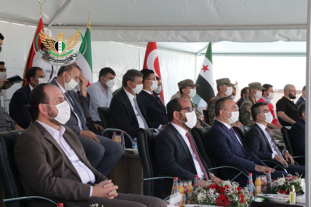 افتتاح مبنى معبر الراعي ومبنى المجلس المحلي وغرفة التجارة في منطقة درع الفرات