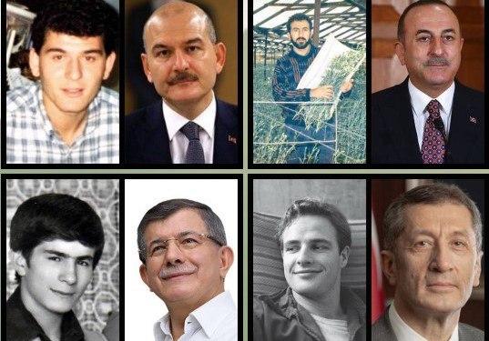 صور تذكارية تعود لشباب السياسيون والمشاهير الأتراك