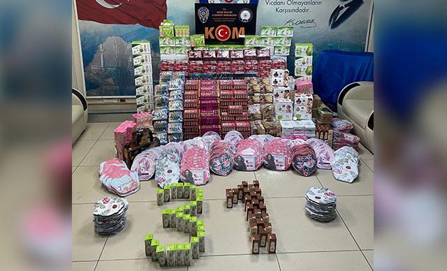 السلطات التركية تضـ .ـبط آلاف القطع المهربة من مواد التجميل في هاتاي