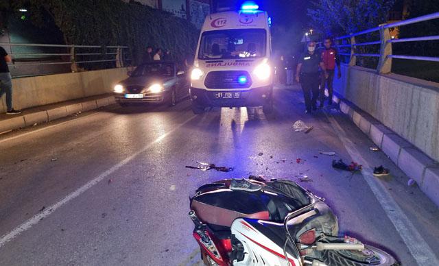 بالفيديو…وفـ .ـاة طفل سوري نتيجة اصـ .ـطدام سيارة بدراجة نارية في اضنة