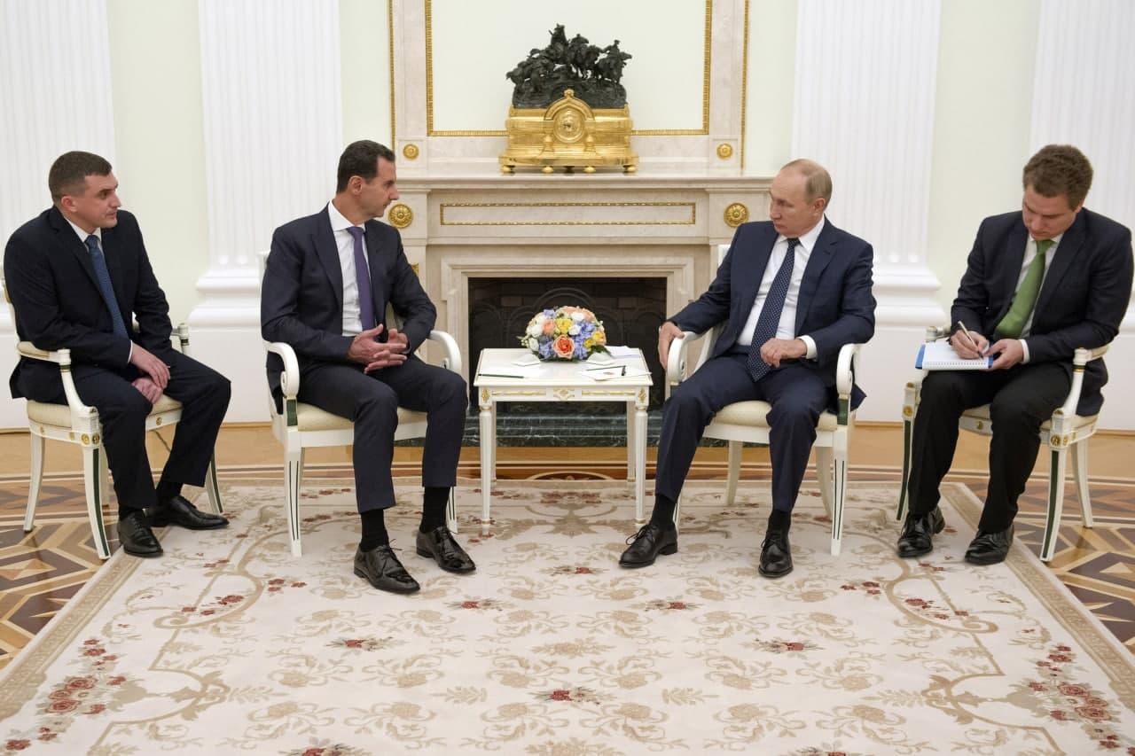رسائل بوتين إلى الأسد في زيارة غير معلنة